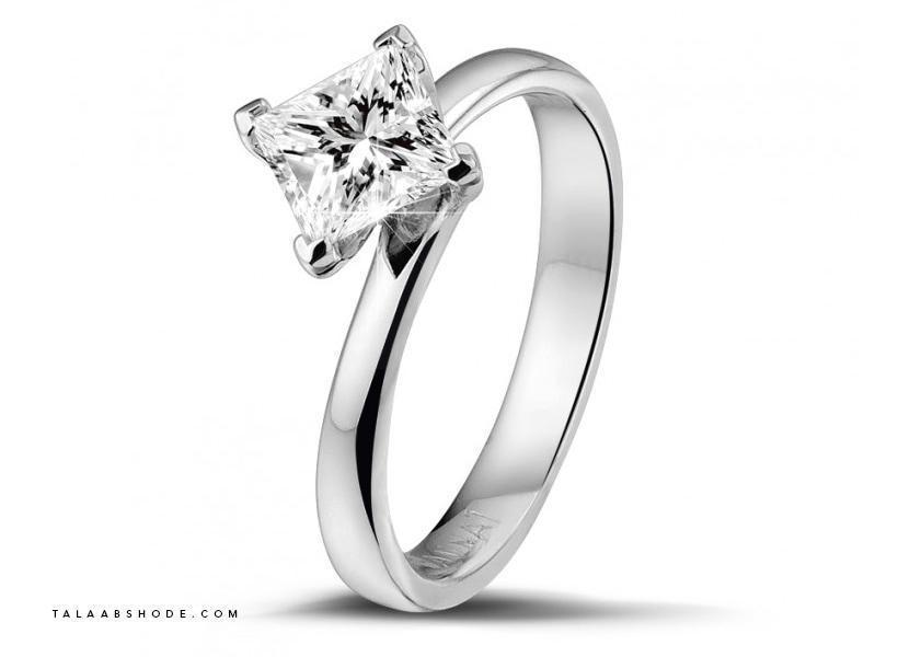 حلقه ازدواج الماس به رنگ H